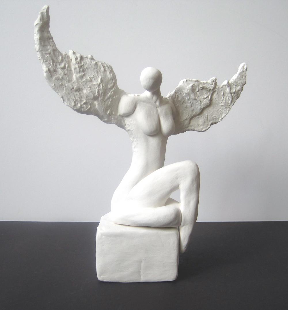 "Title: Jophiel Medium: clay Size: h.8"" w.9"""