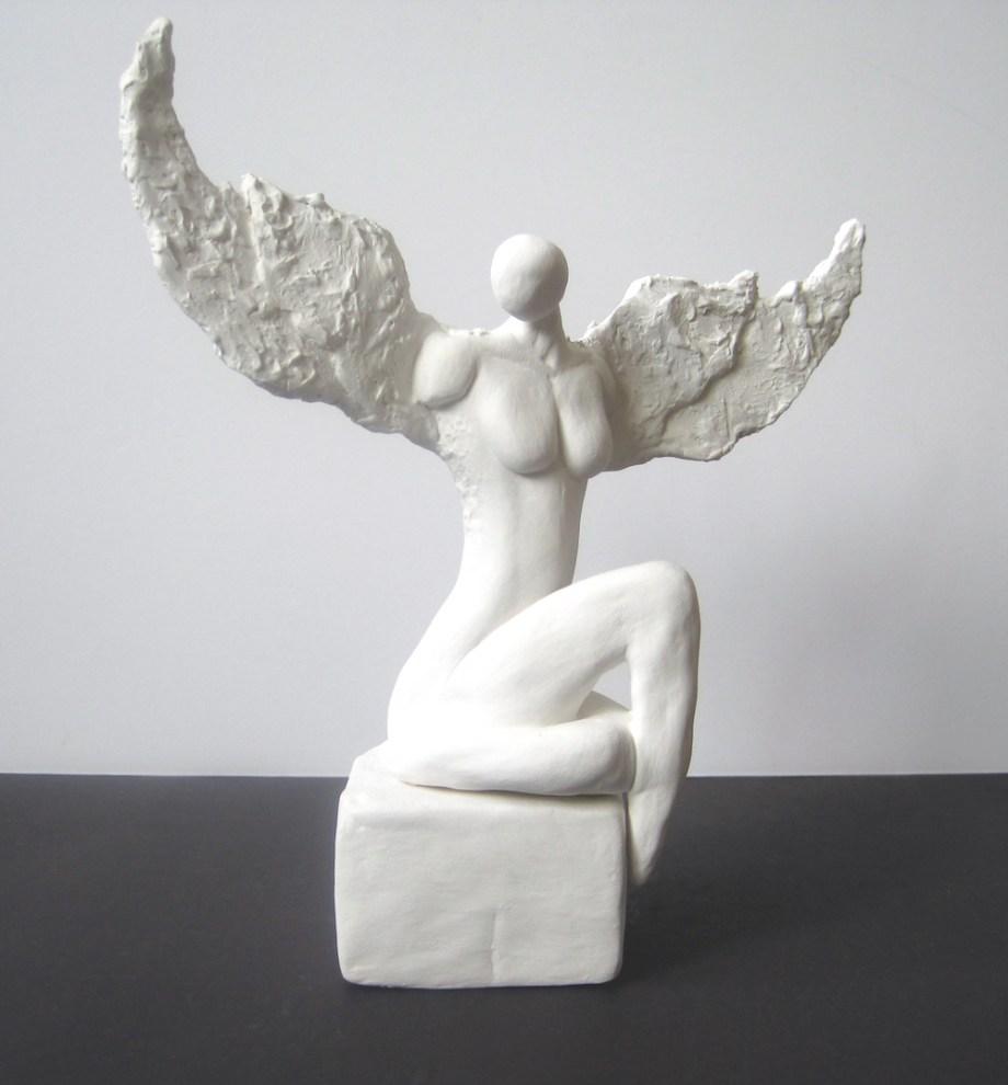"Title:Jophiel Medium: clay Size:h.8"" w.9"""