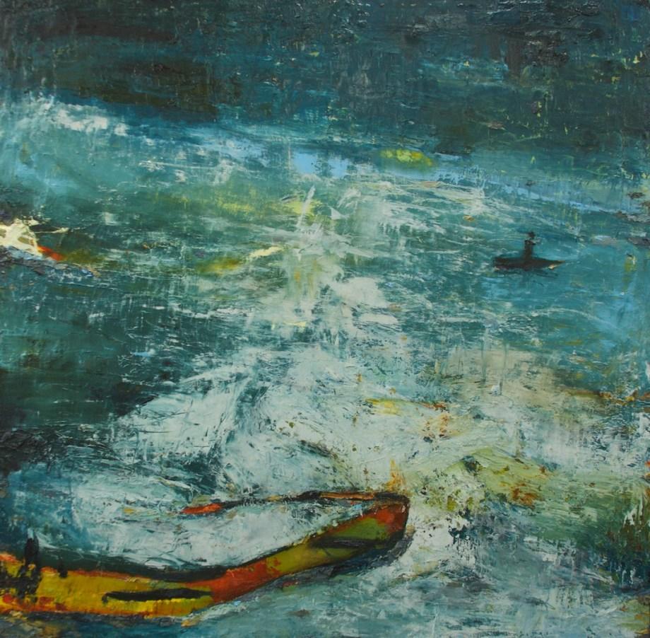 """Title:Onwards Valhalla Medium:oil paint on linen Size:40"""" x 40"""""""