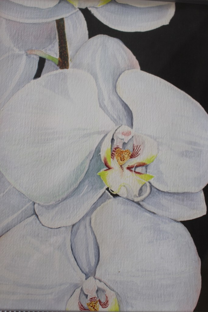 """Title:Orchid Blooms Medium:Acrylic Size:12"""" x 15"""""""