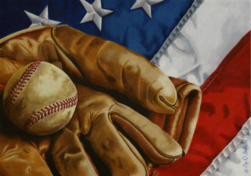 """Title:America's Pastime Medium:Markers Size:15"""" x 11"""""""
