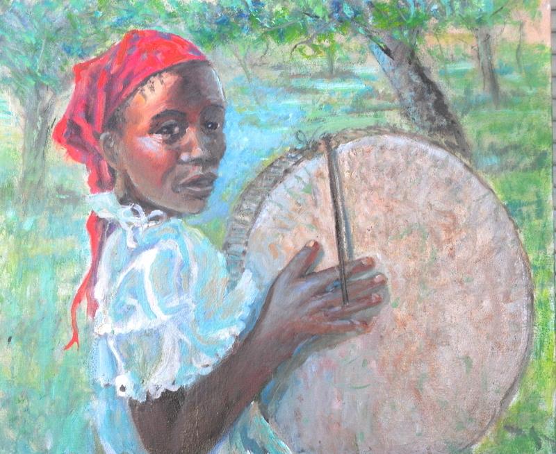 Title:Little Drummer Girl (Kenya) Medium:oil Size:20x24