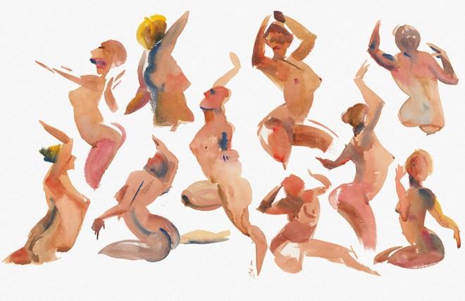 Title:Impression of Rhythm 2 Medium:Watercolor Size:11X17