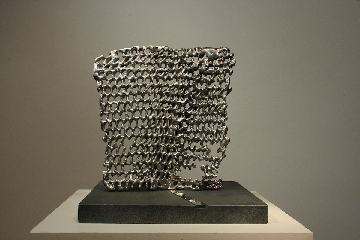 Title: SOURCE Medium: aluminum Size: 21x20x3,5cm