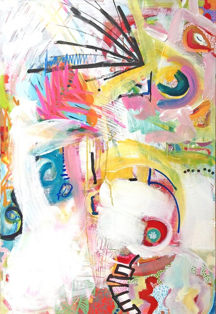 Title:Sans titre 3 Medium:Acrylic and marker Size:100x65cm