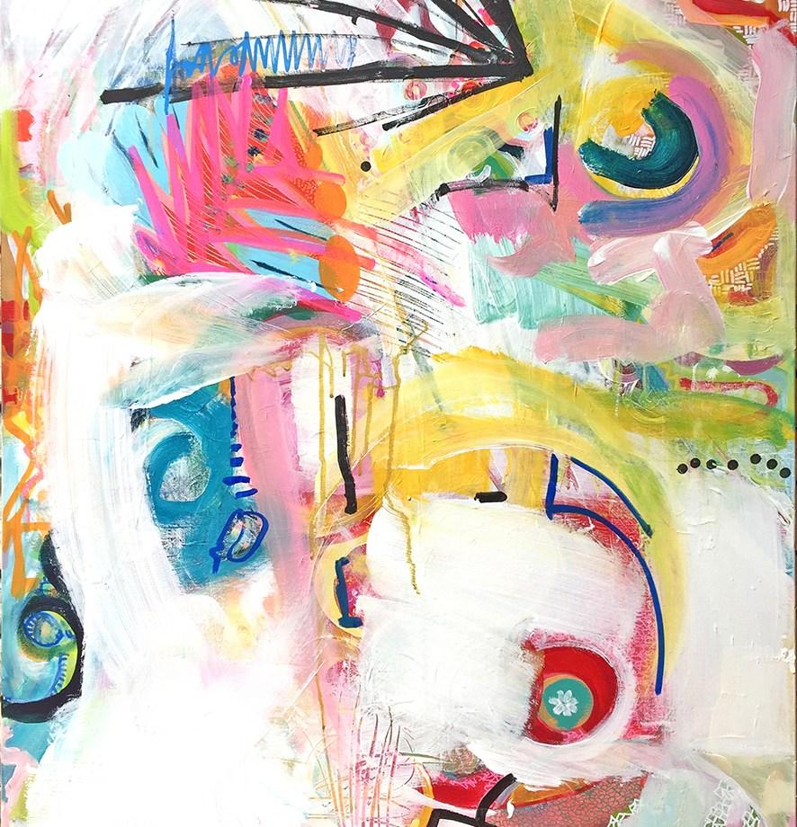 Title: Sans titre 3 Medium: Acrylic and marker Size: 100x65cm