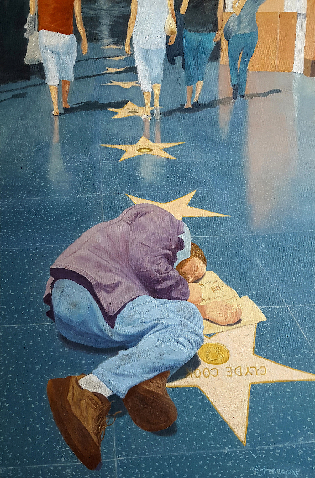 Title: Hollywood Walk of Fame Medium: Oil Size: 36 x 24