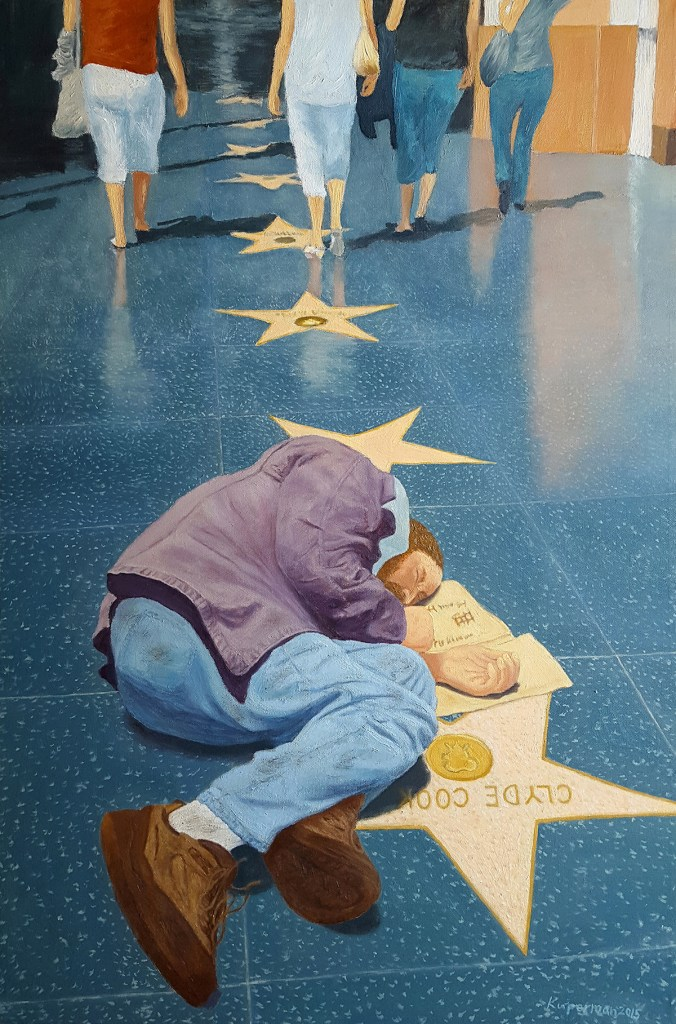 Title:Hollywood Walk of Fame Medium:Oil Size:36 x 24