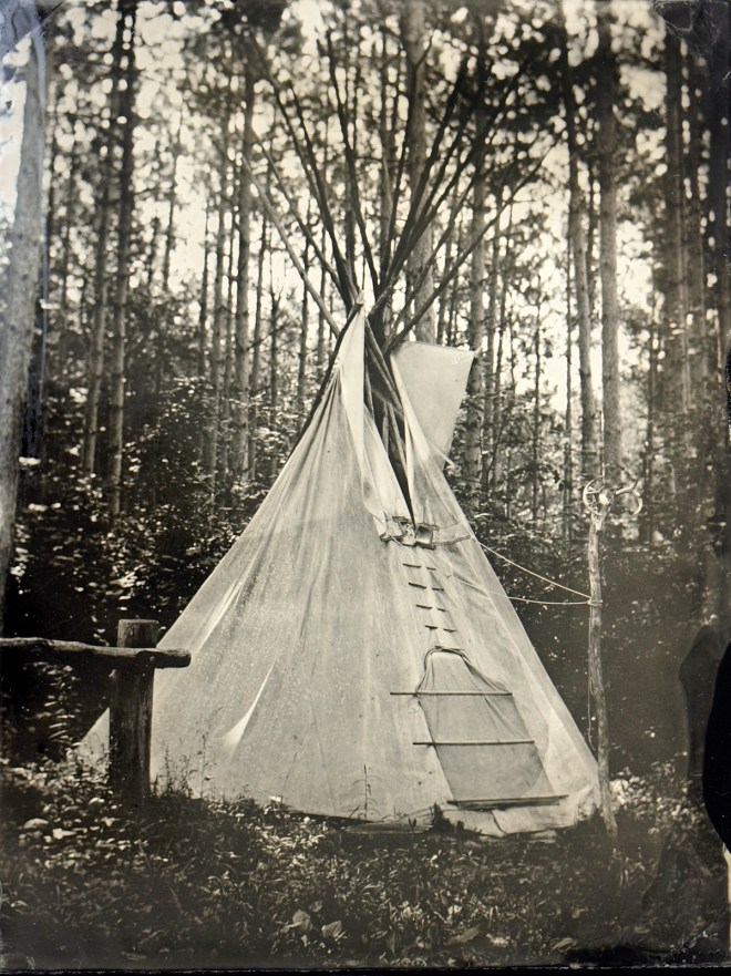Title:Wigwam Medium:	Wet Plate Photography Size:	4x5