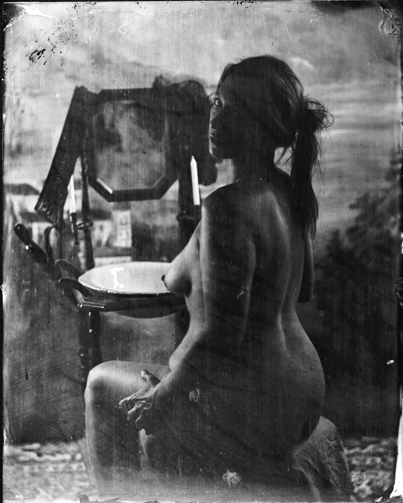 Title:Seated Woman Medium:Wet Plate Photography Size:8x10