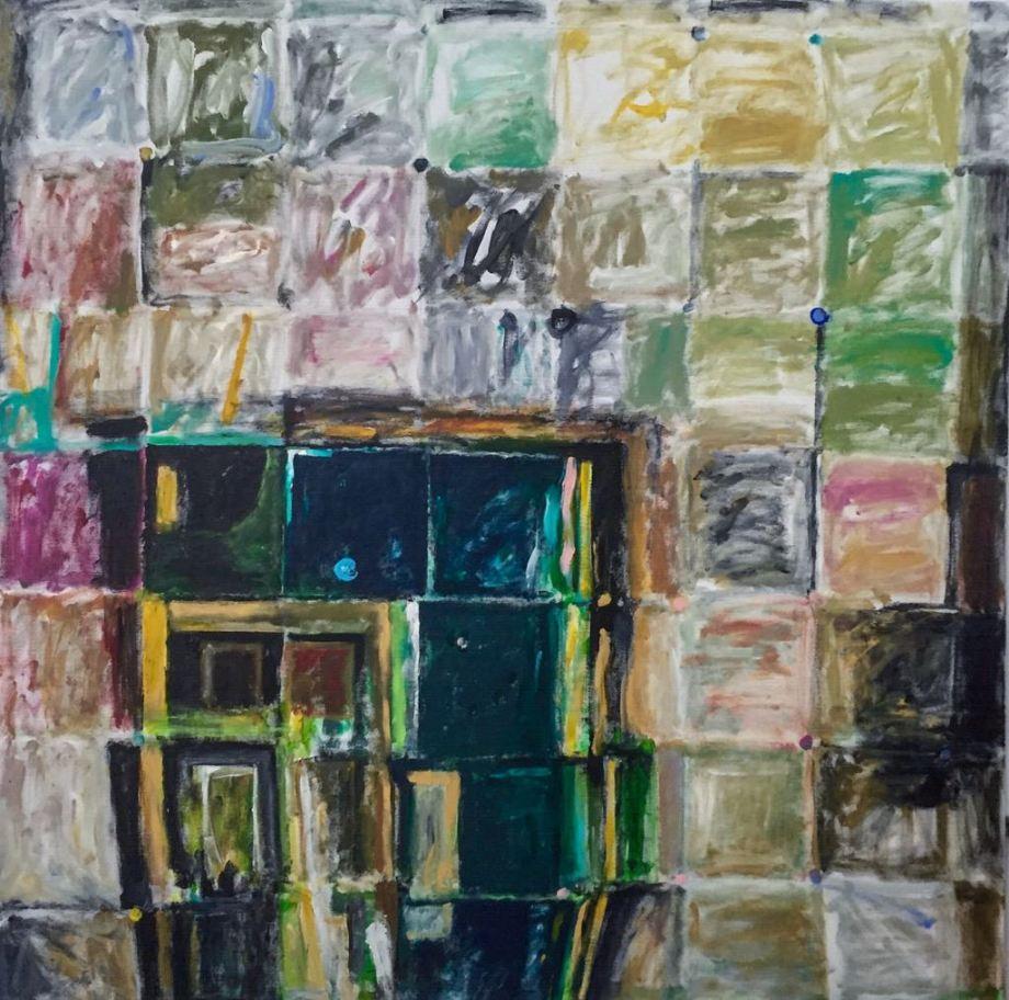 Title:Mirror Stary Night Medium:Acrylic on Canvas Size:120x120