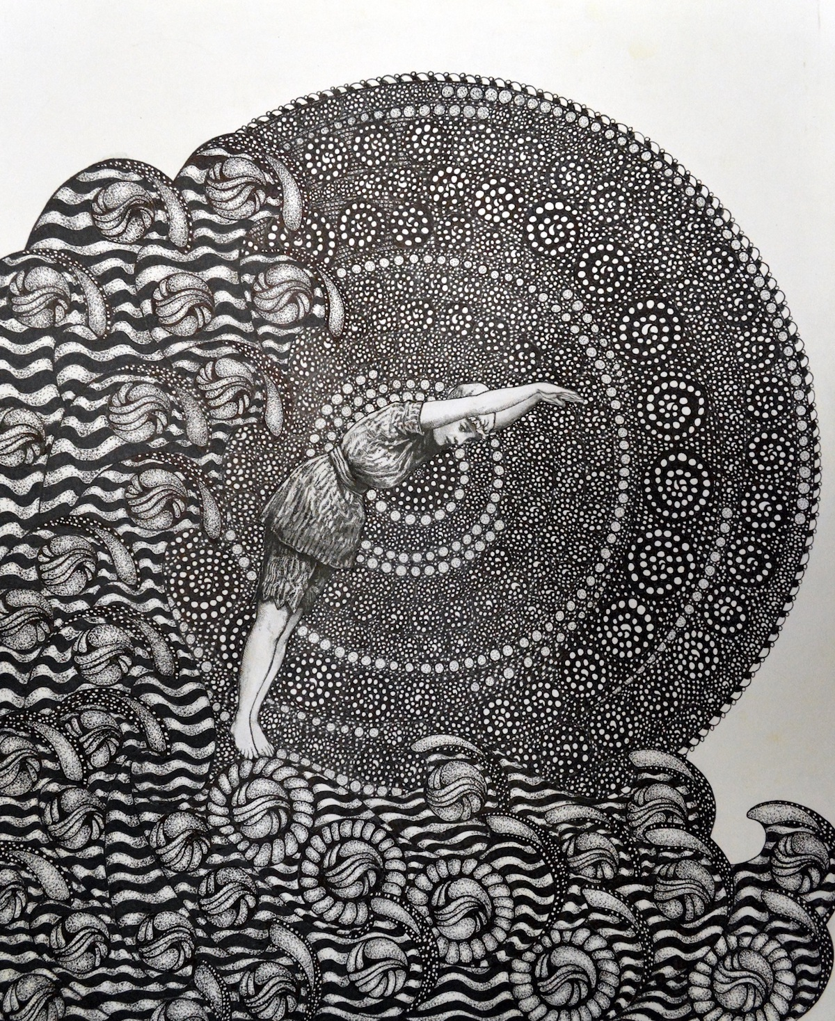 "Title: Courage Medium: Pen and Ink Size: 14""x17"""