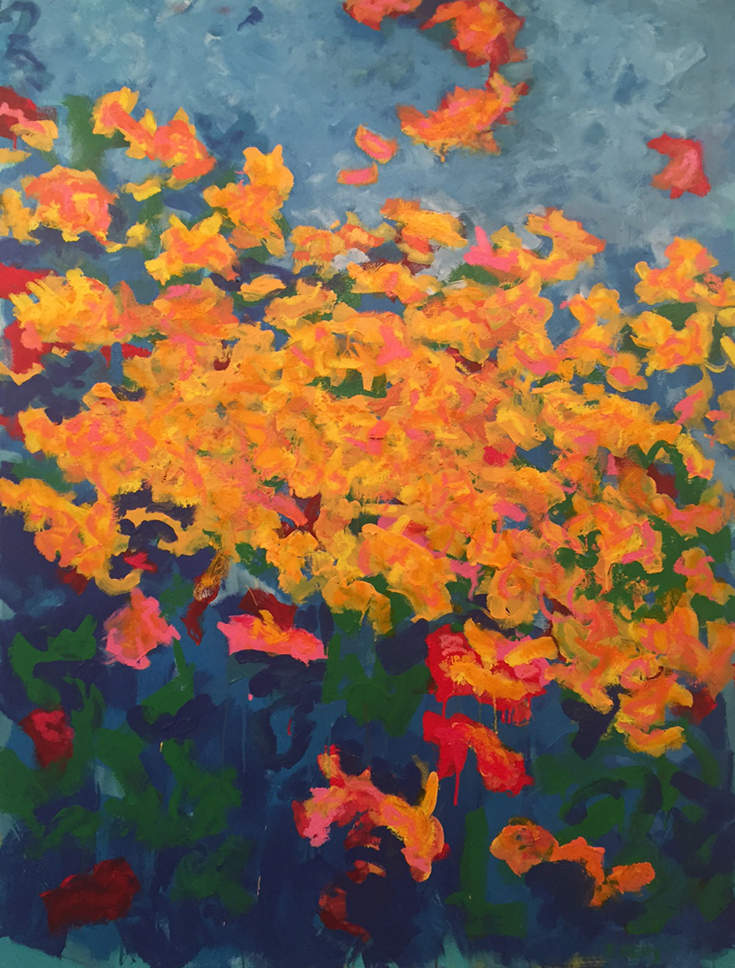 "Title: The Garden Medium: oil on canvas Size: 48"" X 36"""