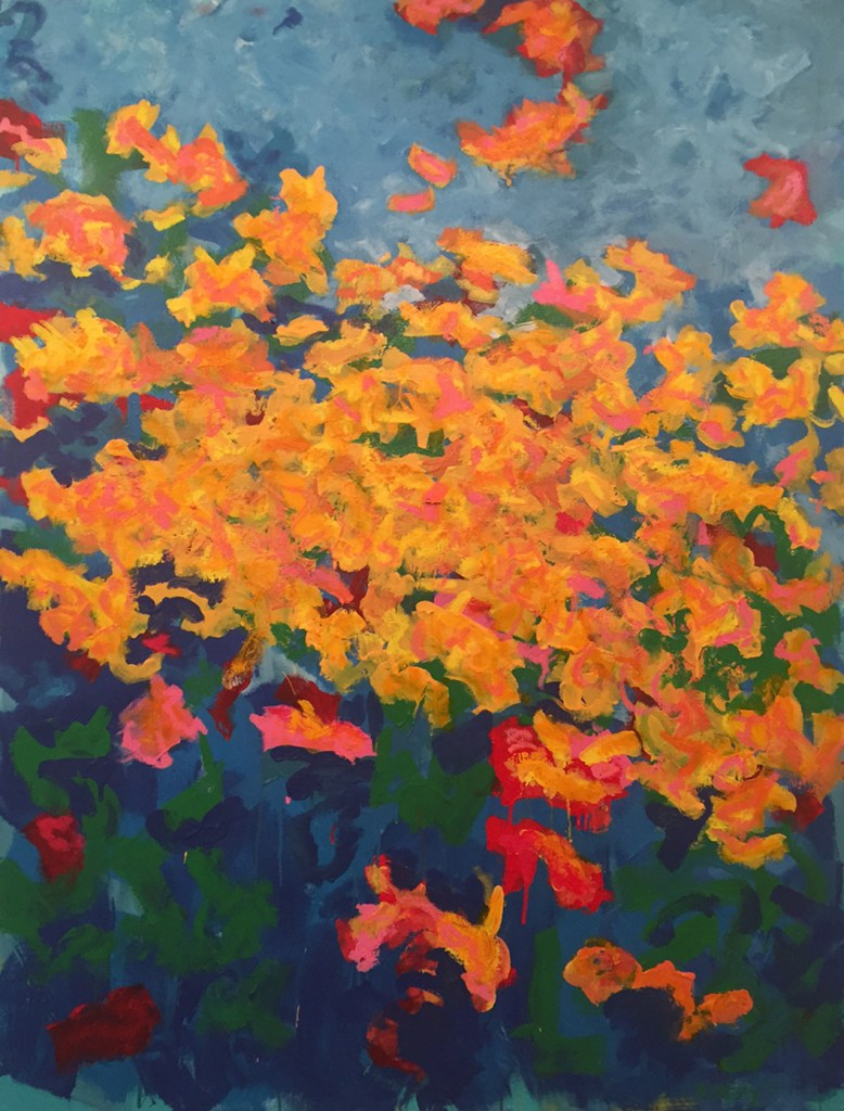 "Title:The Garden Medium:	oil on canvas Size:	48"" X 36"""