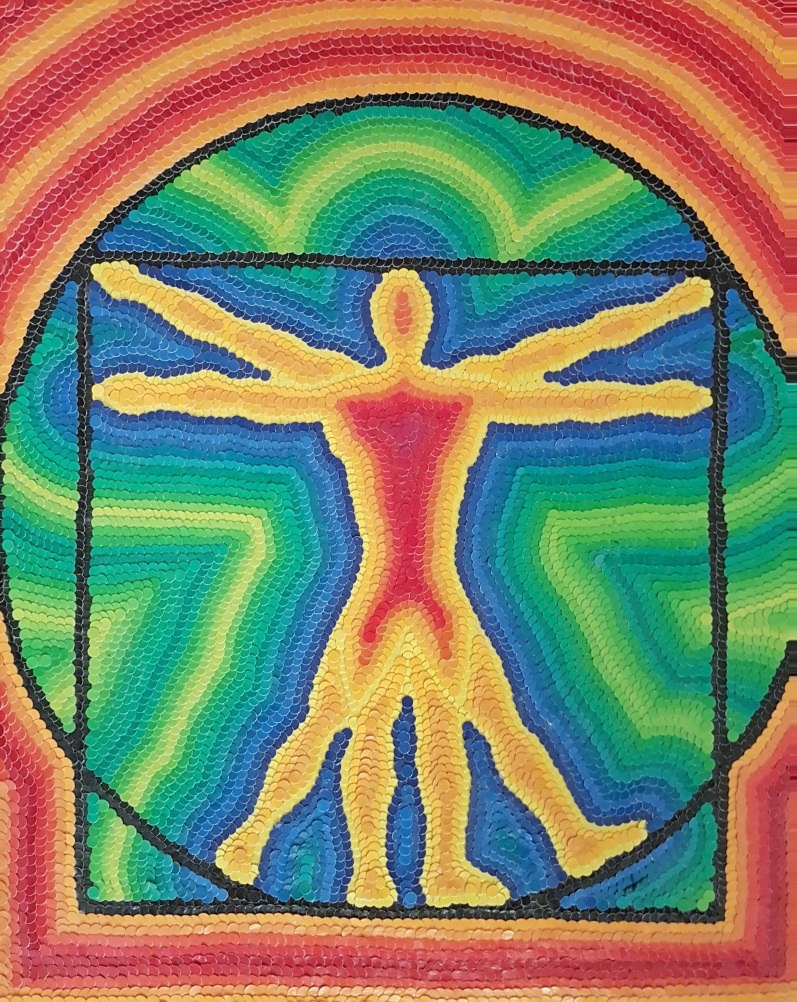 Title:Swastika of Love Medium:	Vitruvian Man Size:	18x24