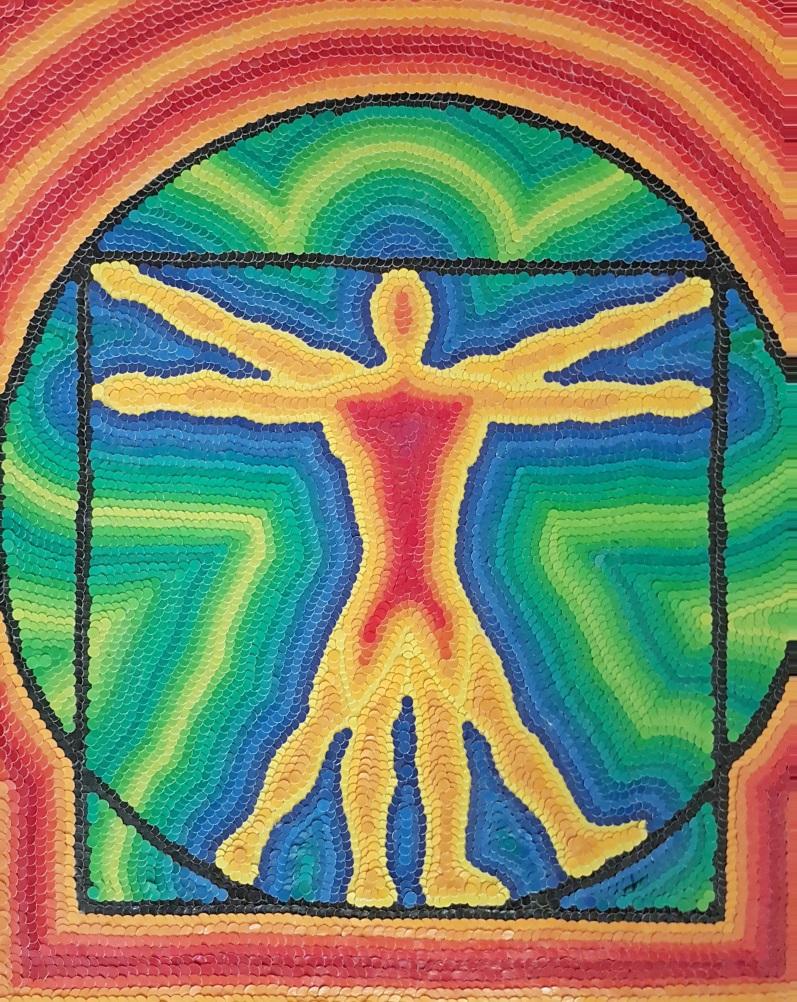 Title:Swastika of Love Medium:Vitruvian Man Size:18x24