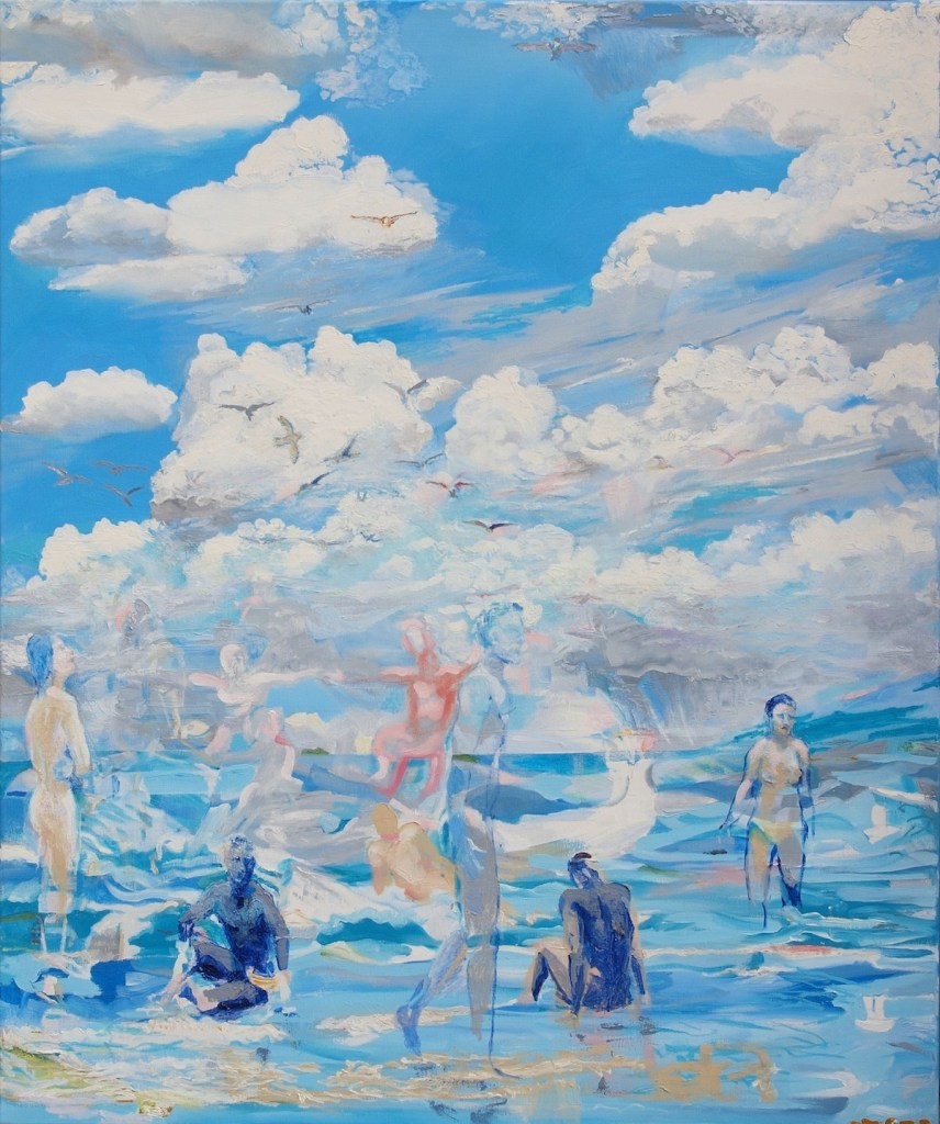 Title:Between air and water Medium:	Oil on canvas Size:	120 x 100 cm