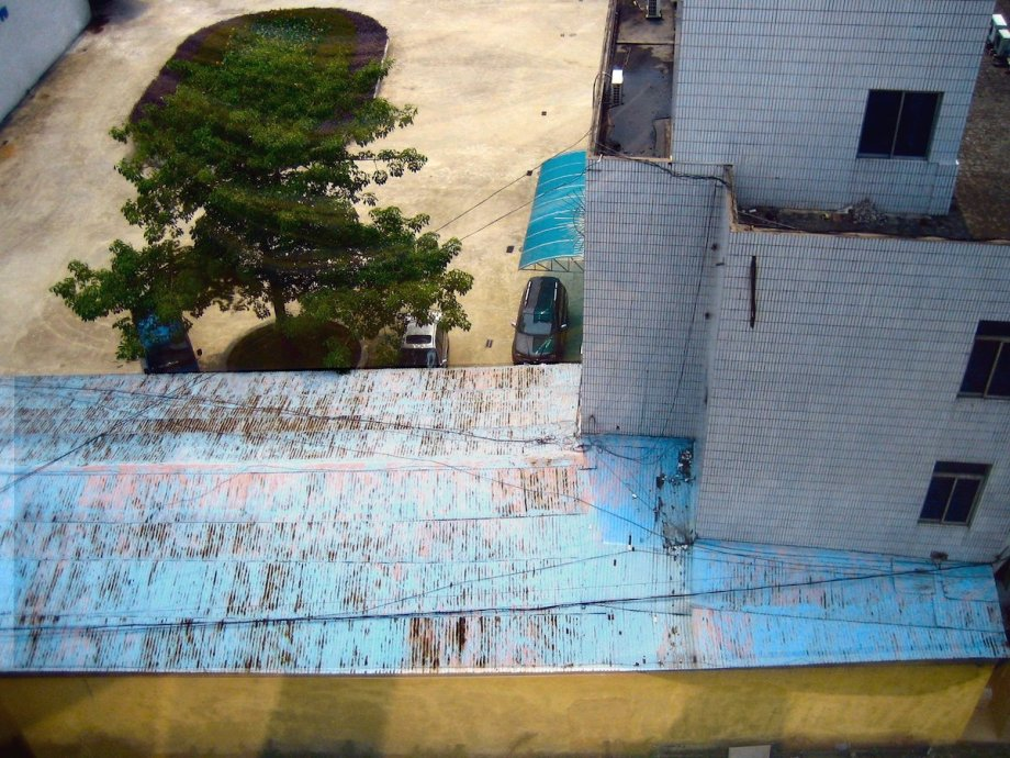 "Title:Foshan roofs Medium:	Photography Size:	30"" x 24"""