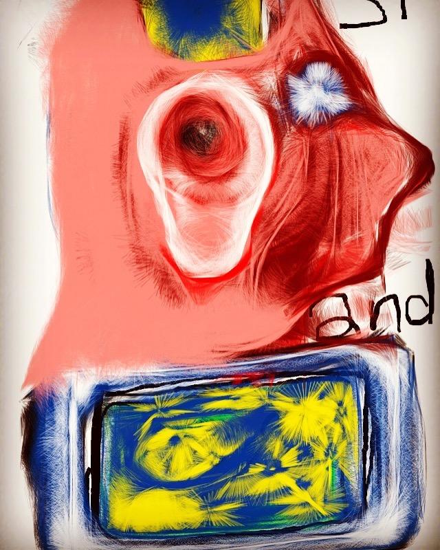 Title Van Gogh's Ear Medium Digital art Size 14x17