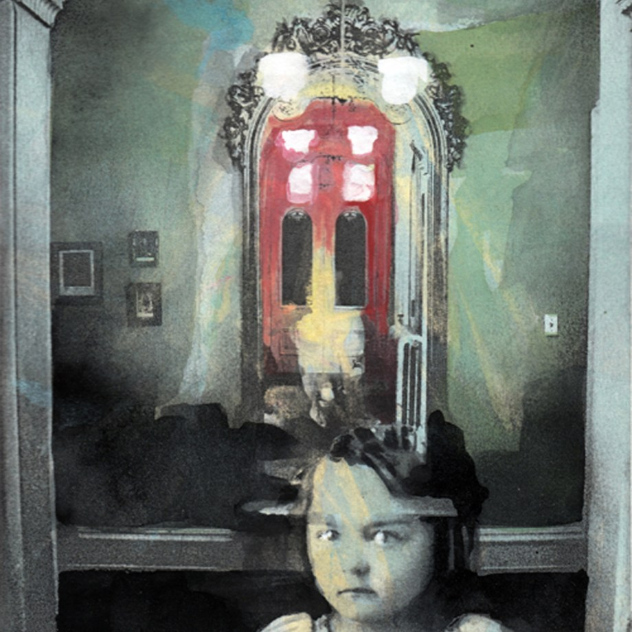 """Title: Turn to the Mirror Medium: Hand-Colofred Solarplate (aka: Photopolymer) Etching Size: 10"""" x 8"""""""