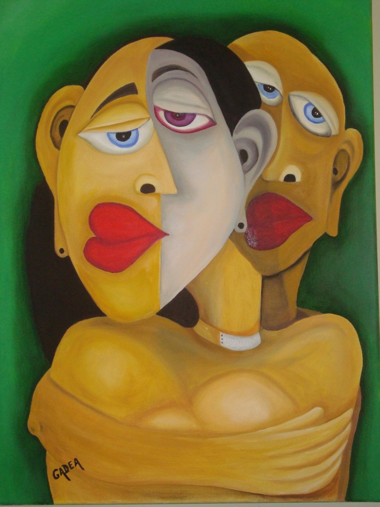 Title Bipolar in Love Medium Oil on Canvas Size 18x24 inches