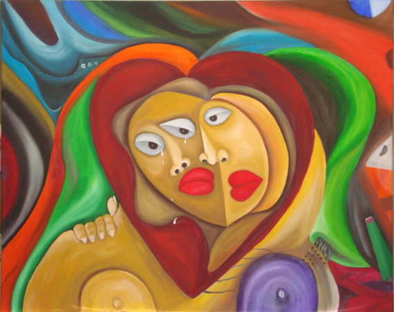 Title Compassion Medium oil on canvas Size 40x32 inches