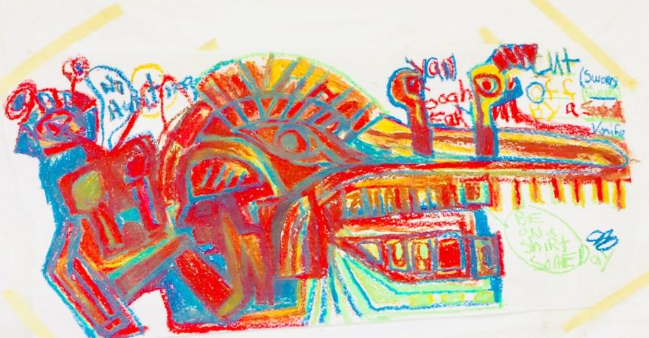 Title Town prostitute Medium Acrylic, oil, pastel Size 18x24