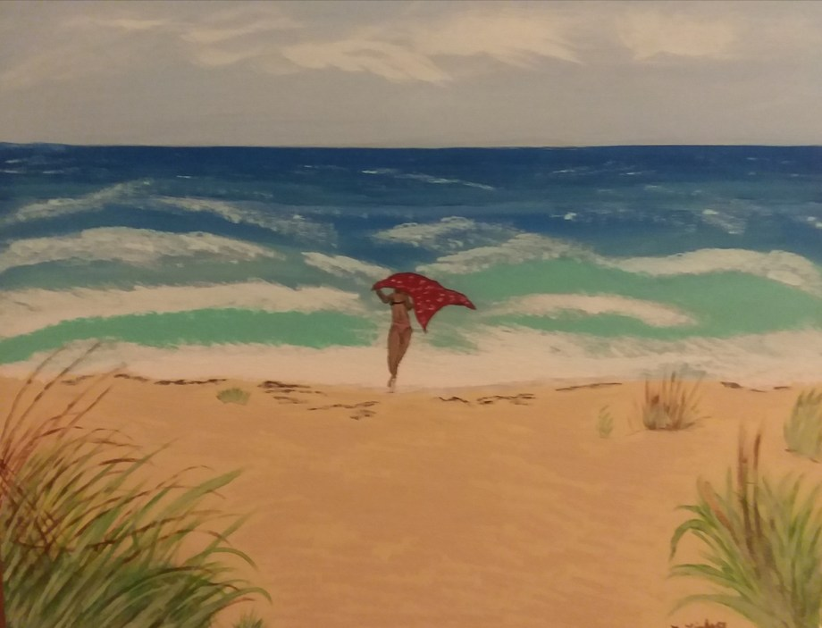 Title Stuart Beach Florida Medium Acyrlic Size 16×20