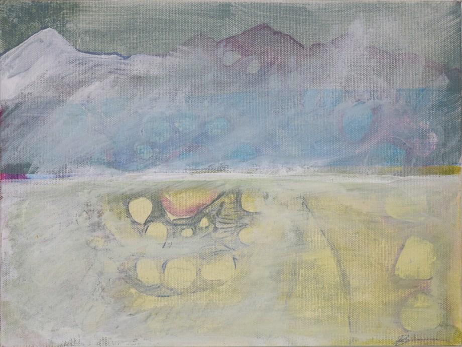 Title The misty mountains Medium acrylic Size 12x9