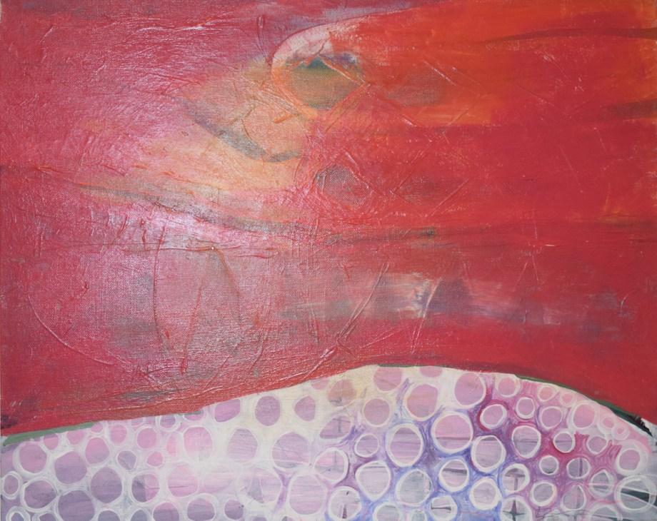 Title Red Dawn Medium Acrylic Size 20x16