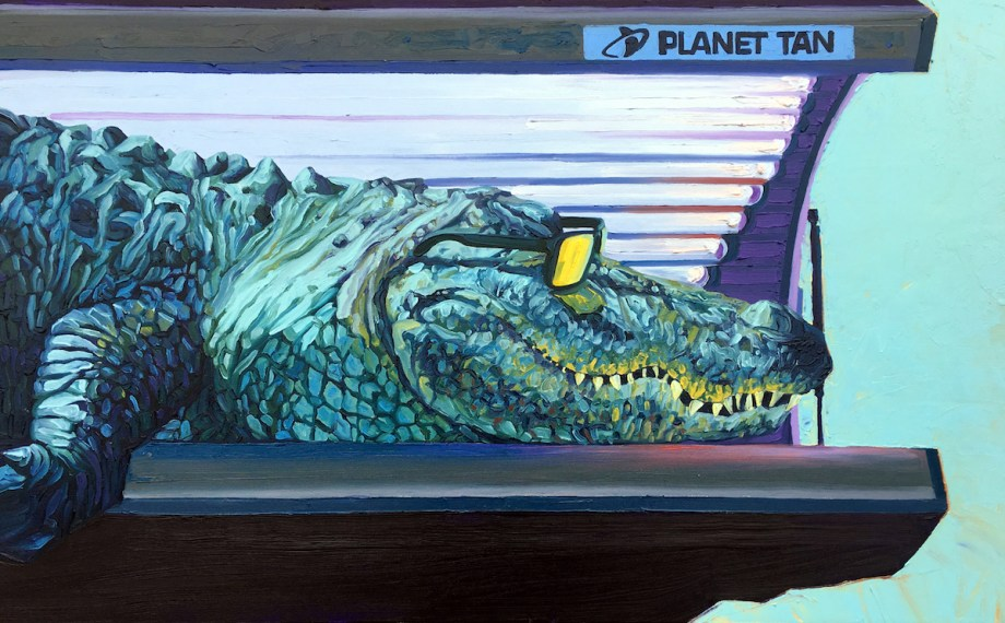 "Title Planet Tan Medium Oil on canvas Size 30""X 48"""