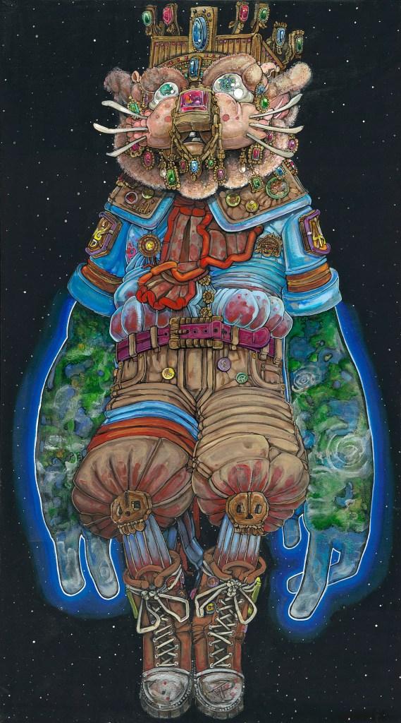 "Title Koursi Medium Acrylic on canvas Size 36""X60"""