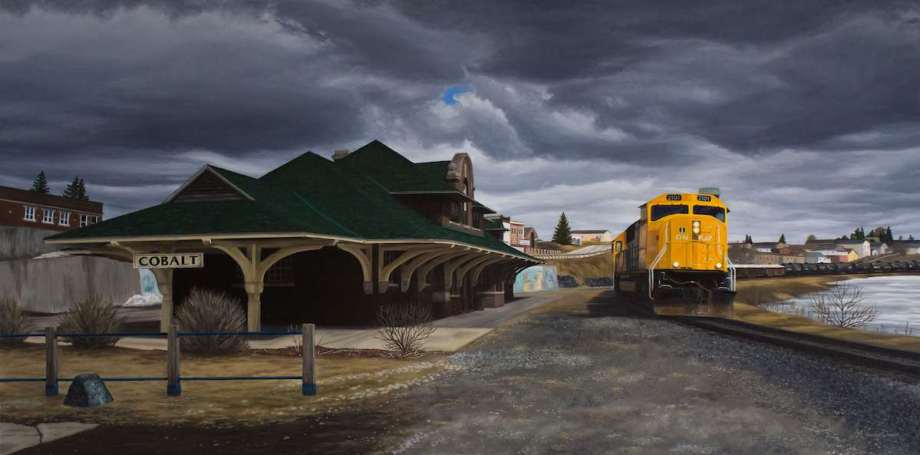 """Title The Town that Silver Built Medium Oil Size 30"""" x 60"""""""
