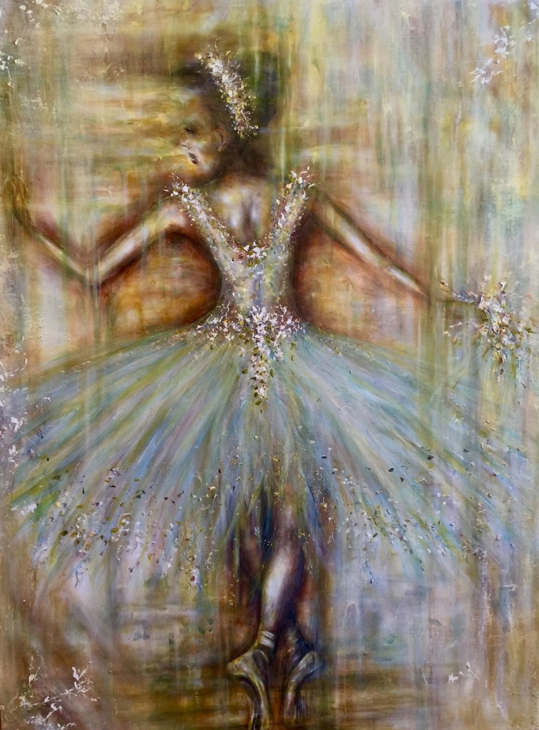 Title Ballerina# 2 Medium Acryllic Size 60x48
