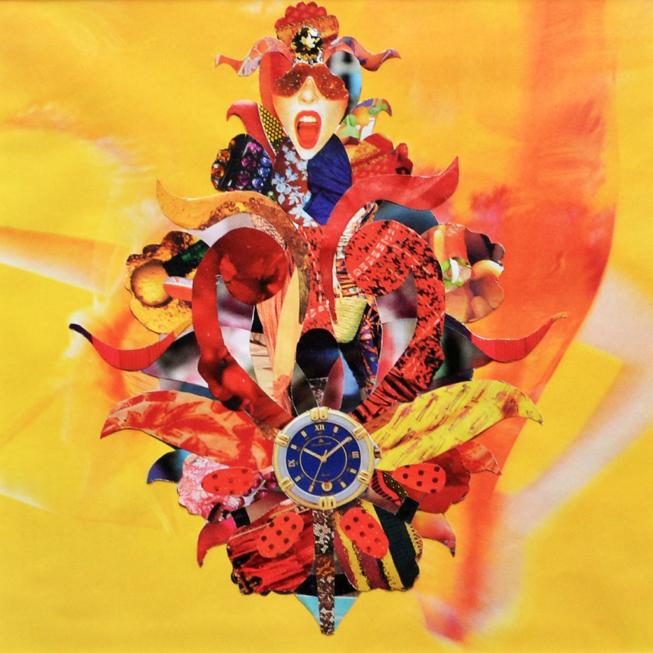 Title Persian_flower_1 Medium Paper collage Size 20x20
