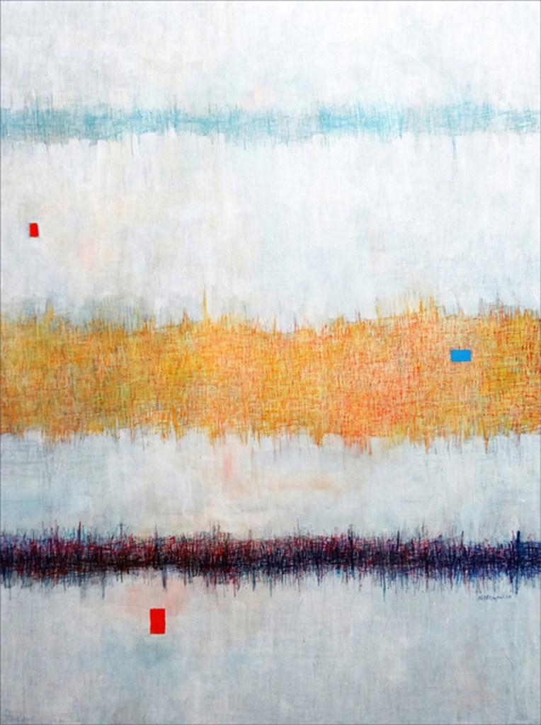"Title Silent Sound Medium Acrylic on Canvas Size 40"" x 30"""