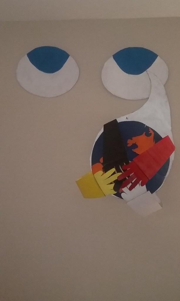 Title United we stab Medium cardboard Size 46x 50