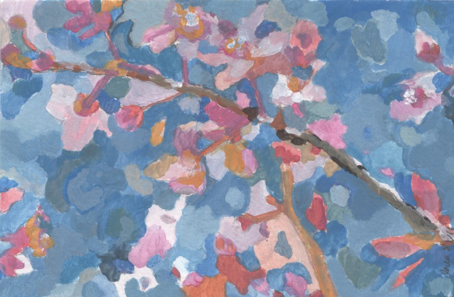 Title Igneous No.26 (Cherry Blossoms) Medium Acrylic Size 4x6 inches
