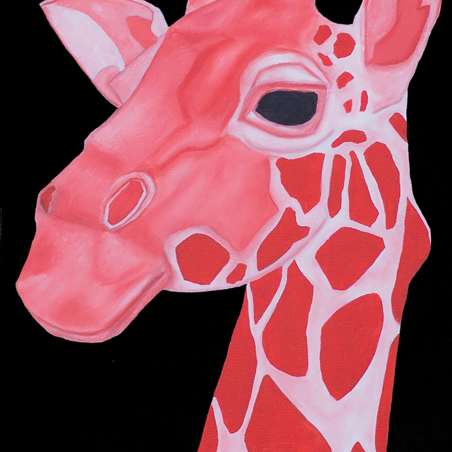 Title The Red Girrafe - Power Medium Oil Size 12 X 24