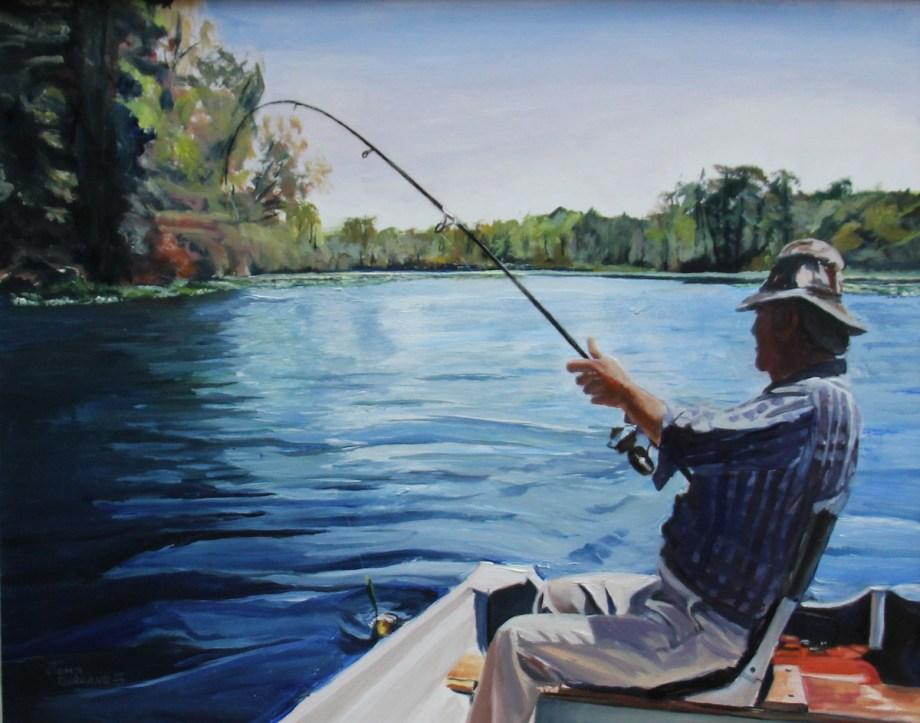 Title Bass Fishing Medium Oil Size 12 x 16