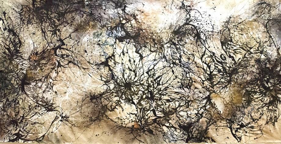 Title Psychodynamics Medium Acrylic on canvas Size 4'x8'