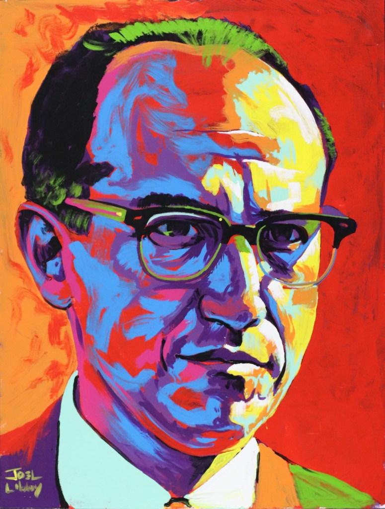 "Title Dr. Jonas Salk Medium Acrylic Size 30"" x 40"""
