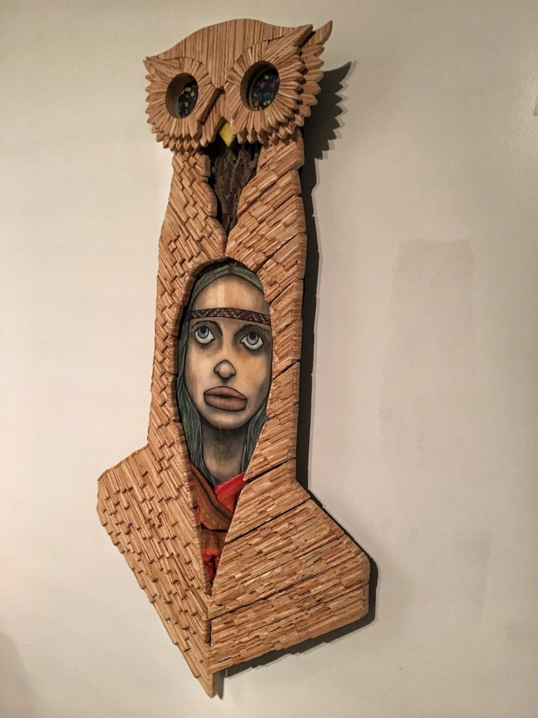 Title M [] T |-| E R [] W L Medium Mixed Media [Wood & Paint] Size 5' [H] x 2.5' [W]