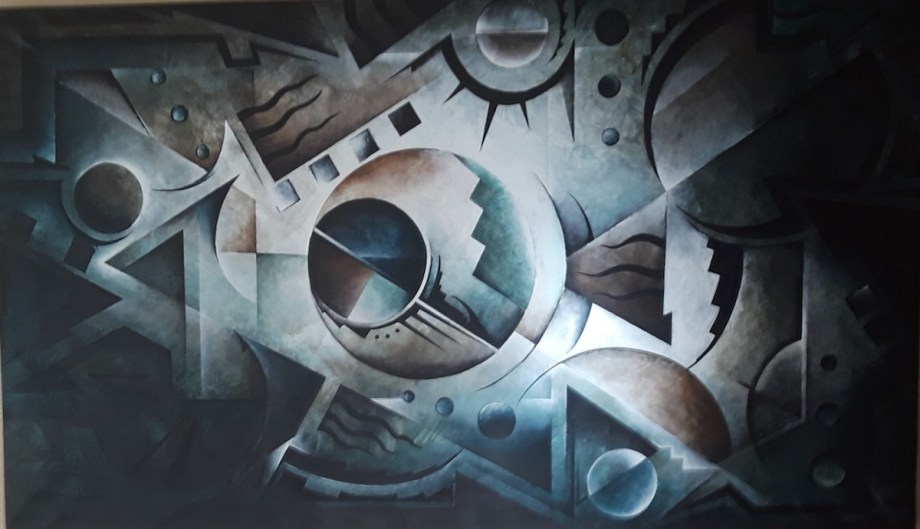 Title Discerning The Absolutes Medium Acrylic Size 32''x55''