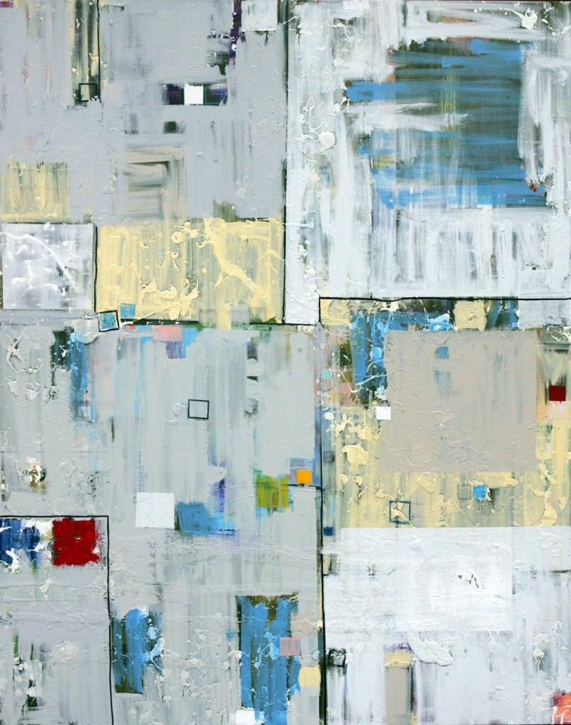 "Title Calm Chaos Medium oil, acrylic, oil pastel, marker Size 48x 60x 1.5"""