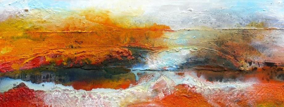 Title Namibia Medium Structure art on canvas Size 40x100 cm