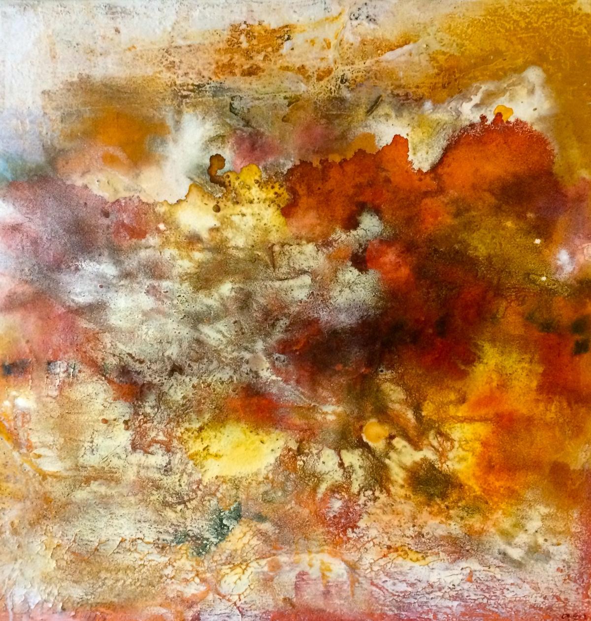 Title Desert relic Medium Structure art on canvas Size 70x100 cm