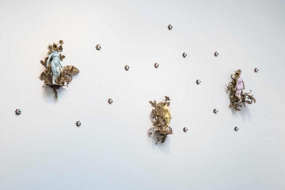 "Title Landscapes Medium Mixed media sculpture installation Size 66"" x 37"" x 7"""
