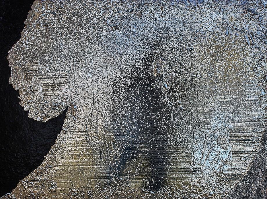 "Title Celestial #16 Medium silver nitrate deposit on panel Size 30""x40"""