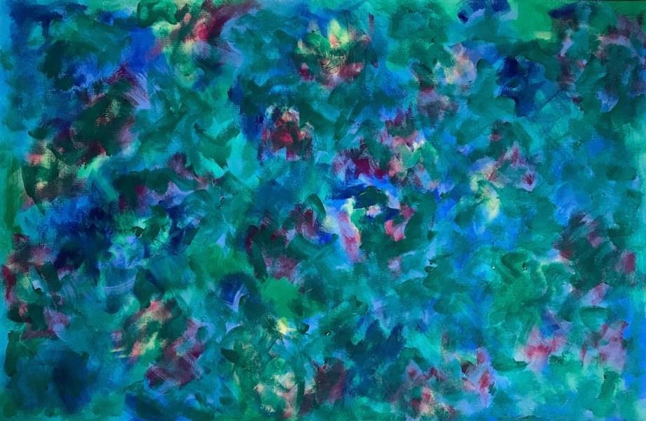 """Title Garden Medium Acrylci Size 24"""" x 36"""""""